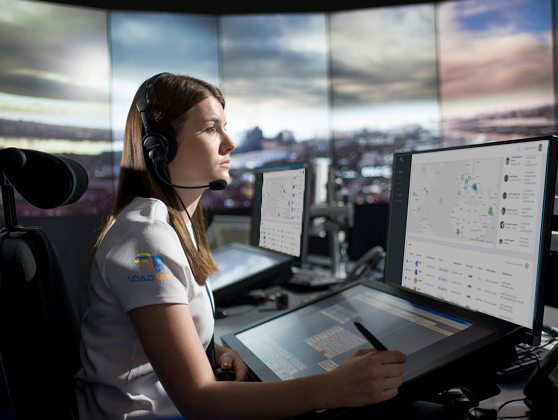 Woman in Control Tower